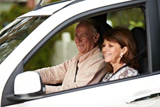 seniors in car