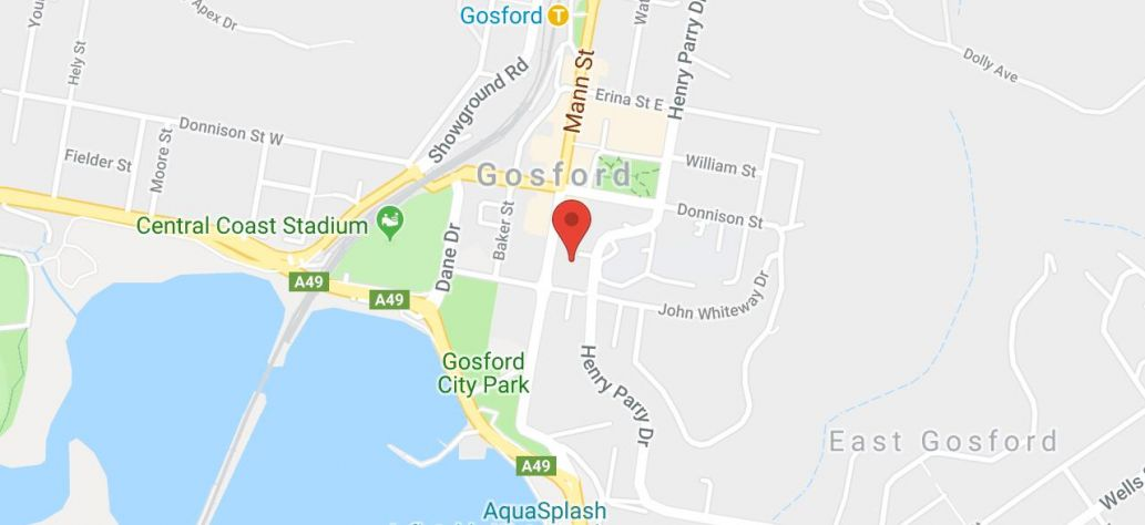 View Gosford Service Centre in Google Maps