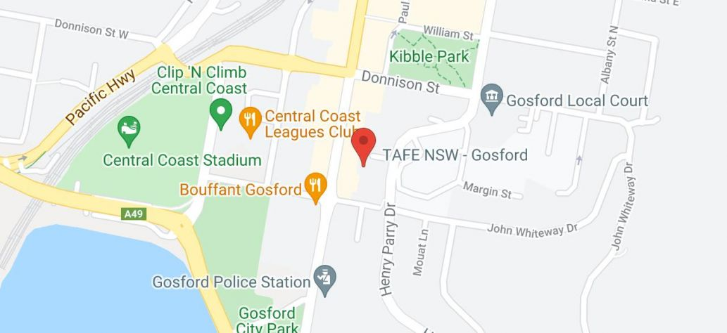 View Gosford Service Centre in Google Maps