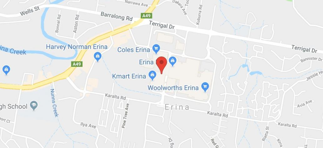 View Erina Library in Google Maps