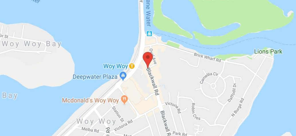 View Woy Woy Library in Google Maps