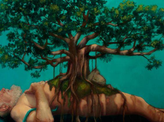 Graeme Balchin, Mortality, oil on canvas, 2018