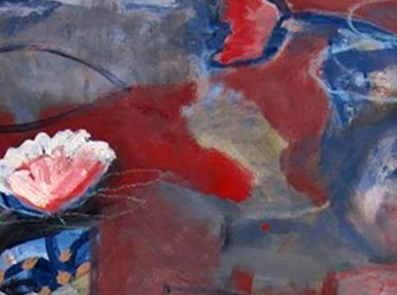 Geoff Harvey, Deep Red, acrylic on paper, 2018.