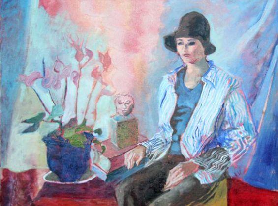 Judy Cassab Woman in Black Hat