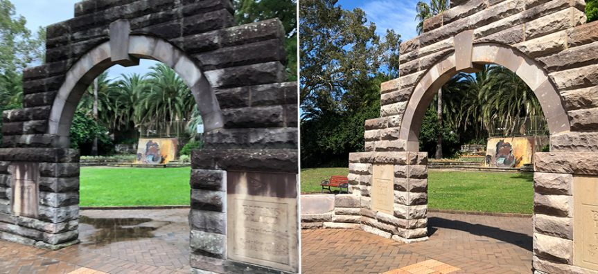 Gosford - Sandstone Arch Before After