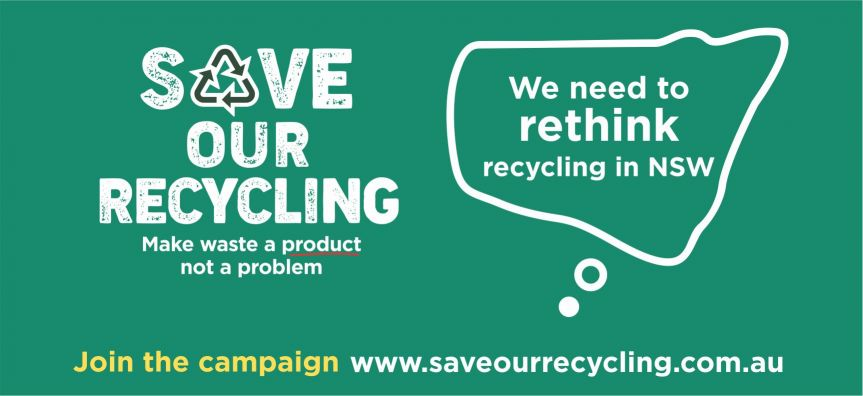 save our recycling web banner