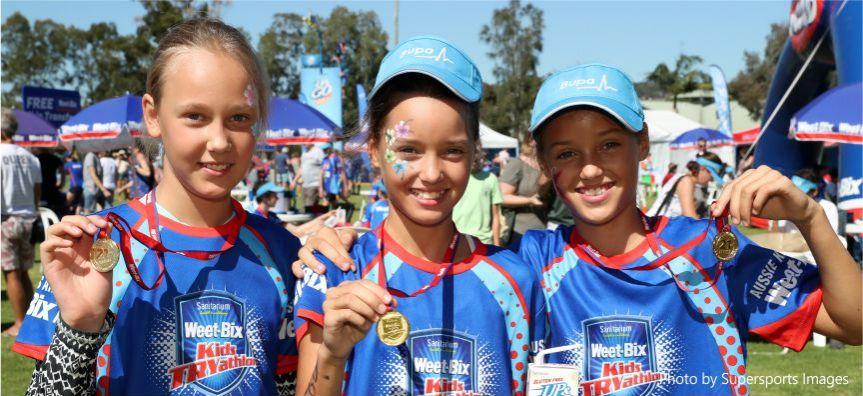 Children at Woy Woy Sanitarium TRYathlon