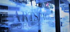 shop window with Artspace sign